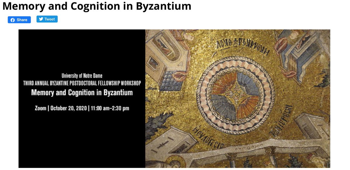 test Twitter Media - Memory and Cognition in #Byzantium about to start. @npaxsullo hosting, @ProfBetancourt, Rossitza Schroeder and Wiebke-Marie Stock speaking. #MedievalTwitter, #ByzantineTwitter : Register (quick!) here: https://t.co/wzTYBaFZCJ https://t.co/wFV87QdK6a