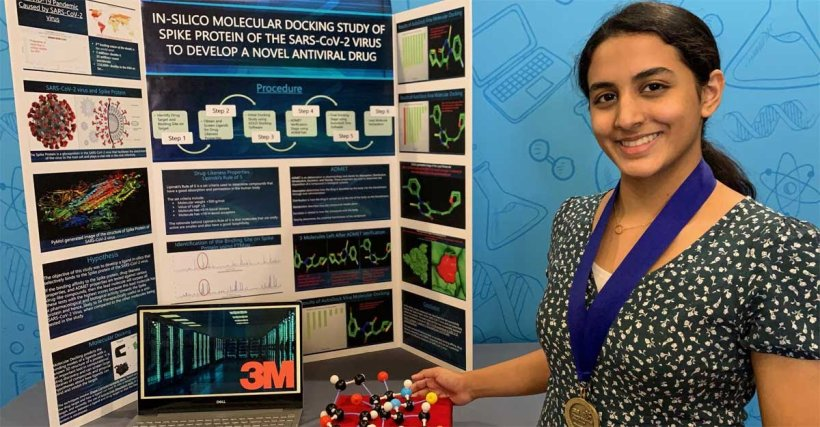 A 14-year-old Indian-American girl in Texas won $25,000 for discovering a potential way to treat #COVID19.  Anika Chebrolu discovered a molecule that can bind to the virus, and possibly be used to make a treatment, in middle school. She plans to become a medical researcher.