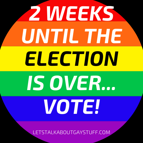 Haven't voted yet?  Get on it!  🗳The last day to VOTE is Nov 3rd!   Find out more here:   #letstalkaboutgaystuff #lgbtq #election #Election2020 #registertovote  #blacklivesmatter #blacktranslivesmatter #translivesmatter #metoo #doyourpart #yourvotematters