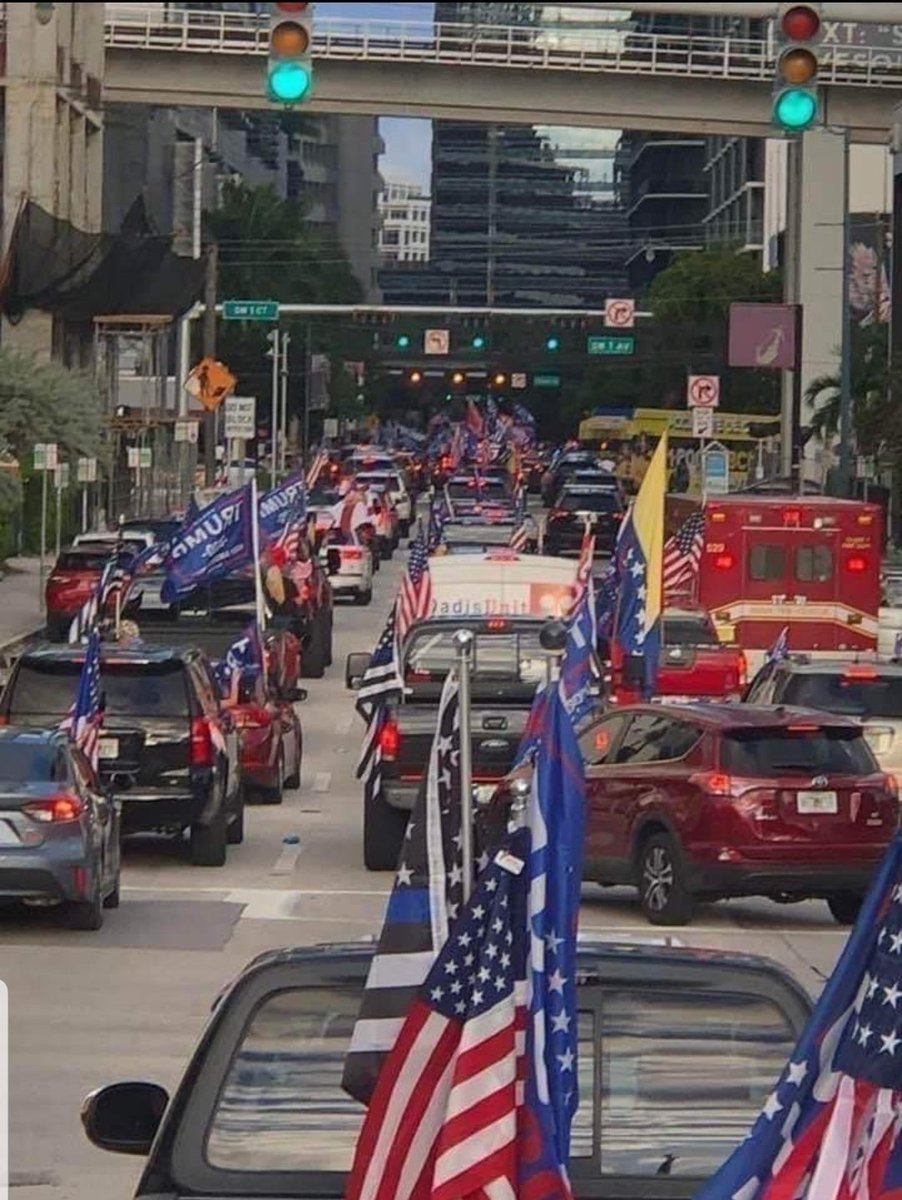 In Miami. Cars were counted by helicopter. It took 3 hours just to get onto the route. 55,000 counted at the meeting point, another 20,000 joining  the line.   For you Biden voters, that's 75,000 vehicles caravaning for Donald J Trump in MIAMI FLORIDA!! Red Wave!
