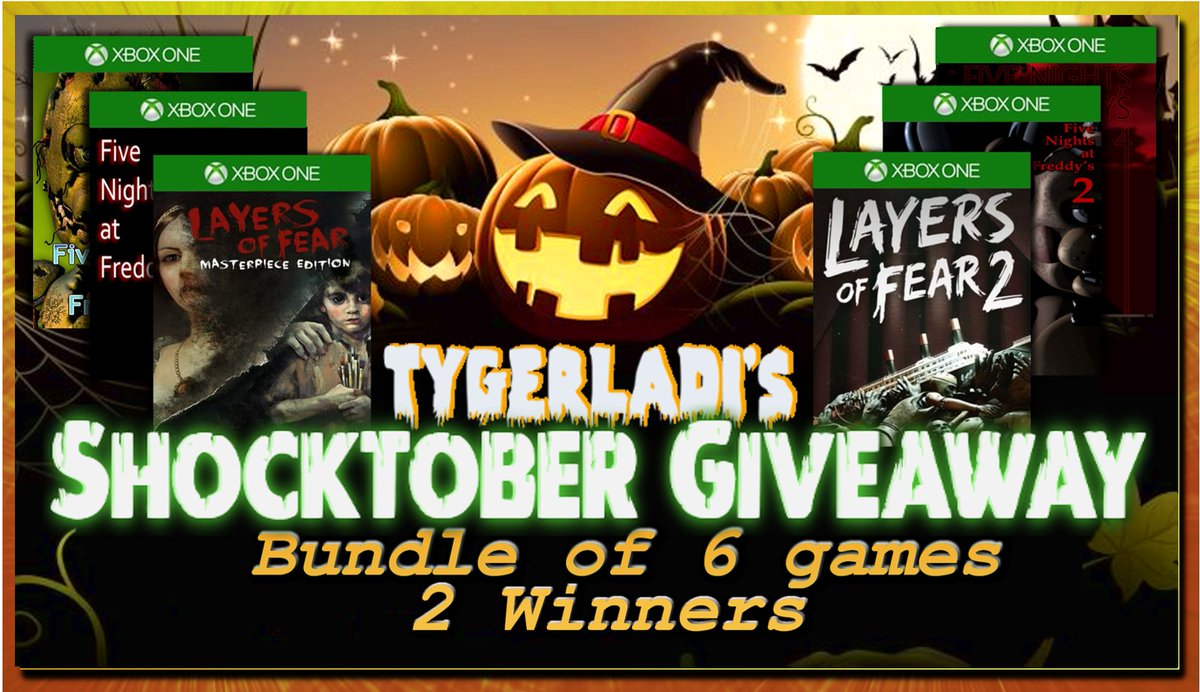 #FreeCodeFridayContest? Here's the final #shocktober #giveaway! An epic bundle of 6 games going to 2 winners!  Codes redeemable in any region w/these games  ✅Layers of Fear: Masterpiece Edition ✅Layers of Fear 2 ✅FNAF ✅FNAF 2 ✅FNAF 3 ✅FNAF 4  Enter➡️