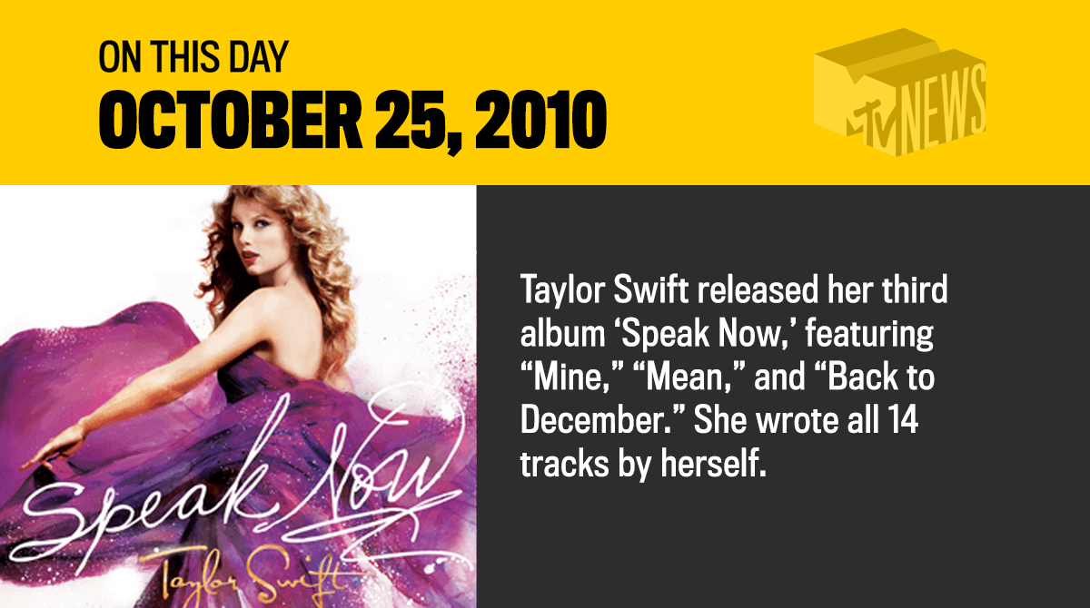 Still can't believe @taylorswift13 released her third album a decade ago, and it's been #10YearsOfSpeakNow!