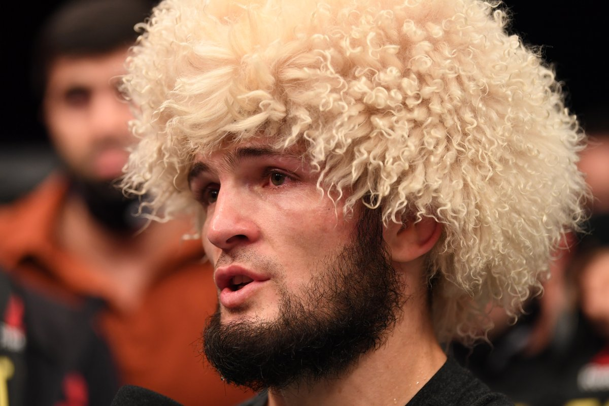What a moment.  Khabib wins his first fight since his late father Abdulmanap died from complications due to COVID-19 and announces his retirement with a 29-0 record.  #UFC254