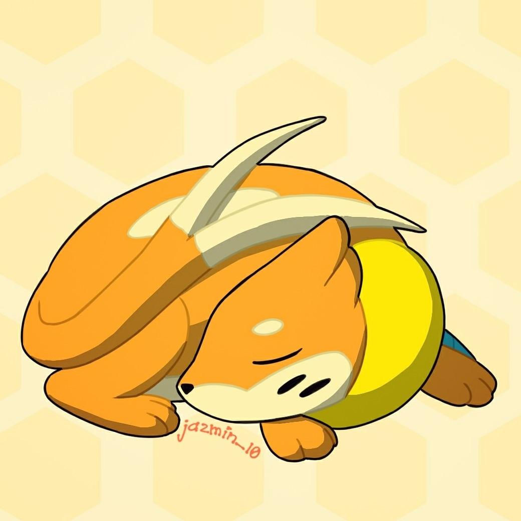 Día 24: Sleeping  Este fue simple y cómodo #drawtober #Pokemon