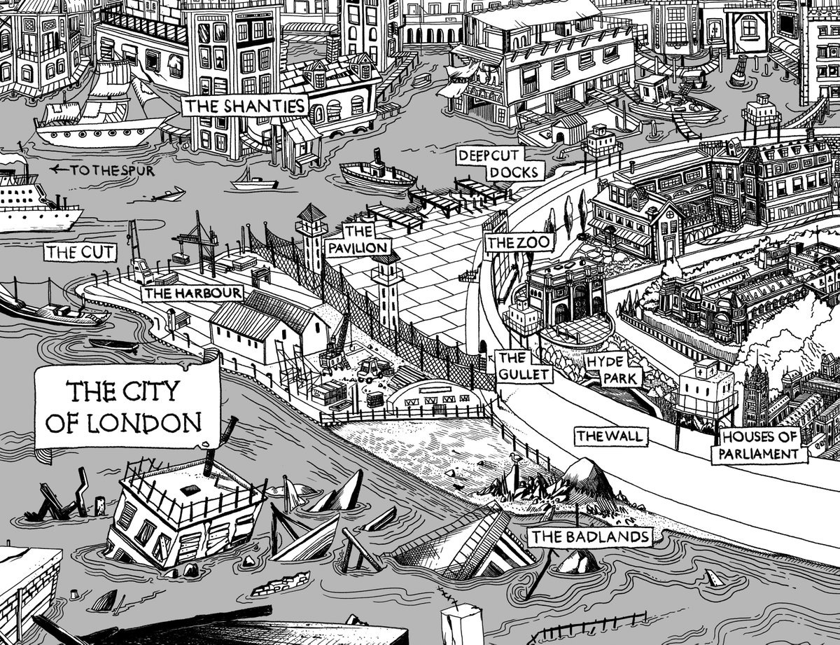 test Twitter Media - @ReviewsBluebird @TripFiction Ooh, me! FLOODWORLD is set in flooded London, sometime in the future.   Here's the map that @WhoIsJensine drew... https://t.co/jqXaZb4uCM