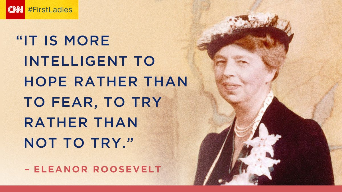 Eleanor Roosevelt, once shy and reserved, became a beacon of courage and light for the nation as First Lady and beyond. Follow her journey to and through the White House in an all-new episode of the @CNNOriginals #FirstLadies, Sunday at 10 p.m. ET/PT