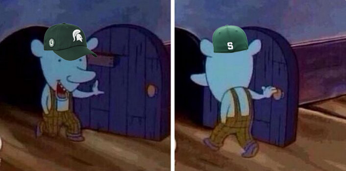 Michigan State fans:   This morning Right now