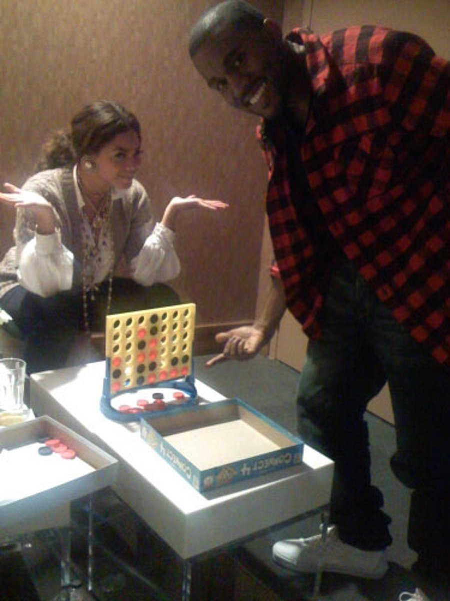 Beyoncé once beat Kanye West at Connect Four nine times in a row.