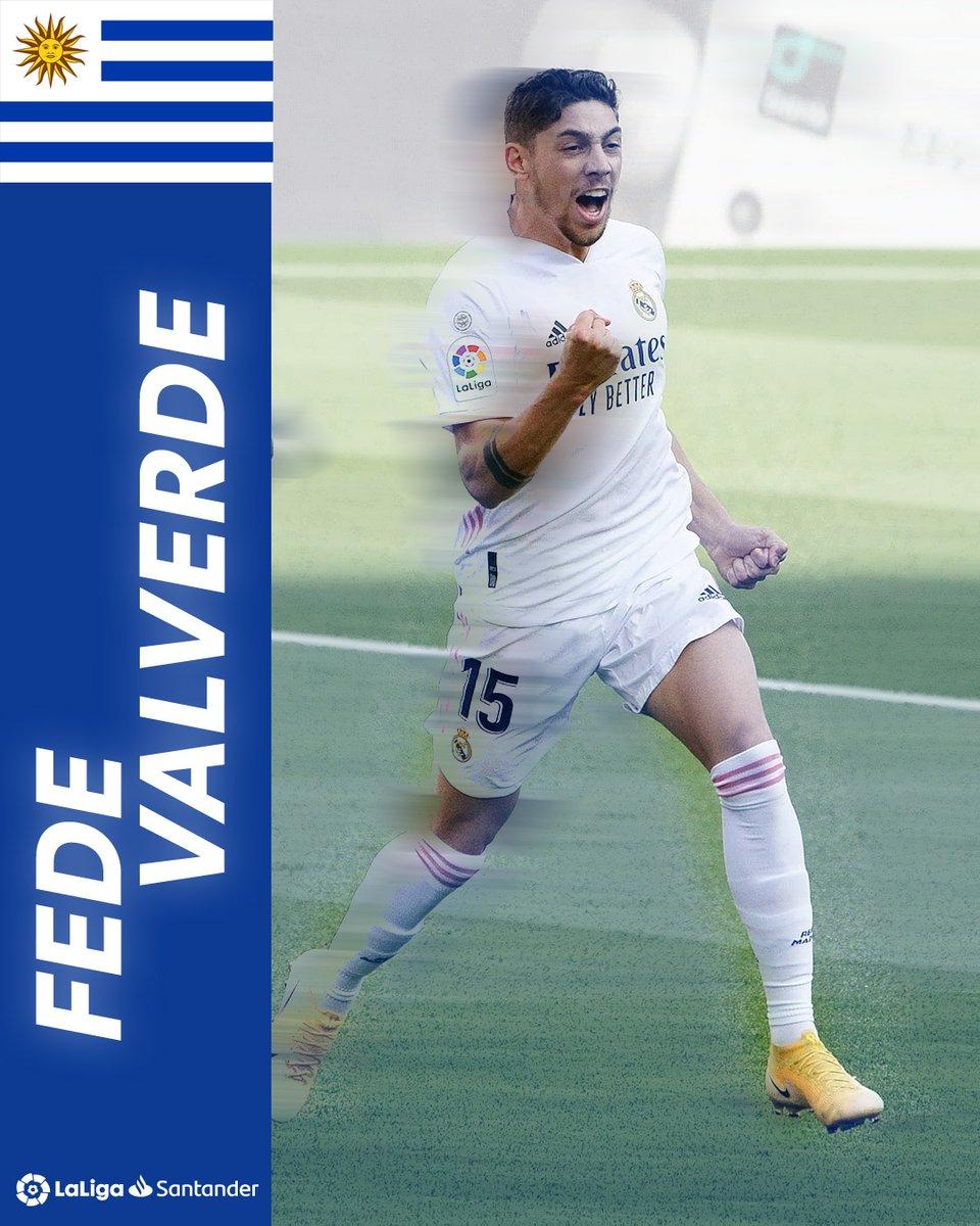 🙌🇺🇾 HISTORIA DE URUGUAY.   🐦🔝 ¡@fedeevalverde es el primer jugador charrúa del @realmadrid que marca en #ElClásico!
