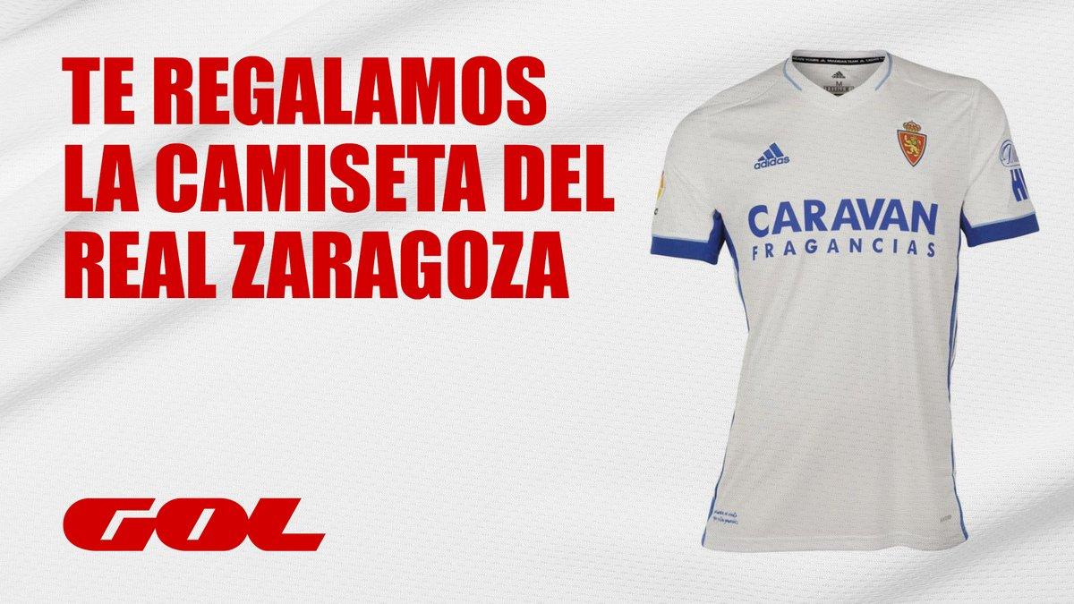🎁 REGALO 🎁  🤩 ¿Quieres ganar la camiseta oficial del @RealZaragoza?  👇 Pasos:  ❤️ Sigue a @Gol   🔁 Haz RT  📲 Pronostica el número total de goles del partido con el hashtag #ZaragozaSabadellEnGol  🏆 Un ganador  ⌚️ 21:00h   @RealZaragoza 🆚 @CESabadell