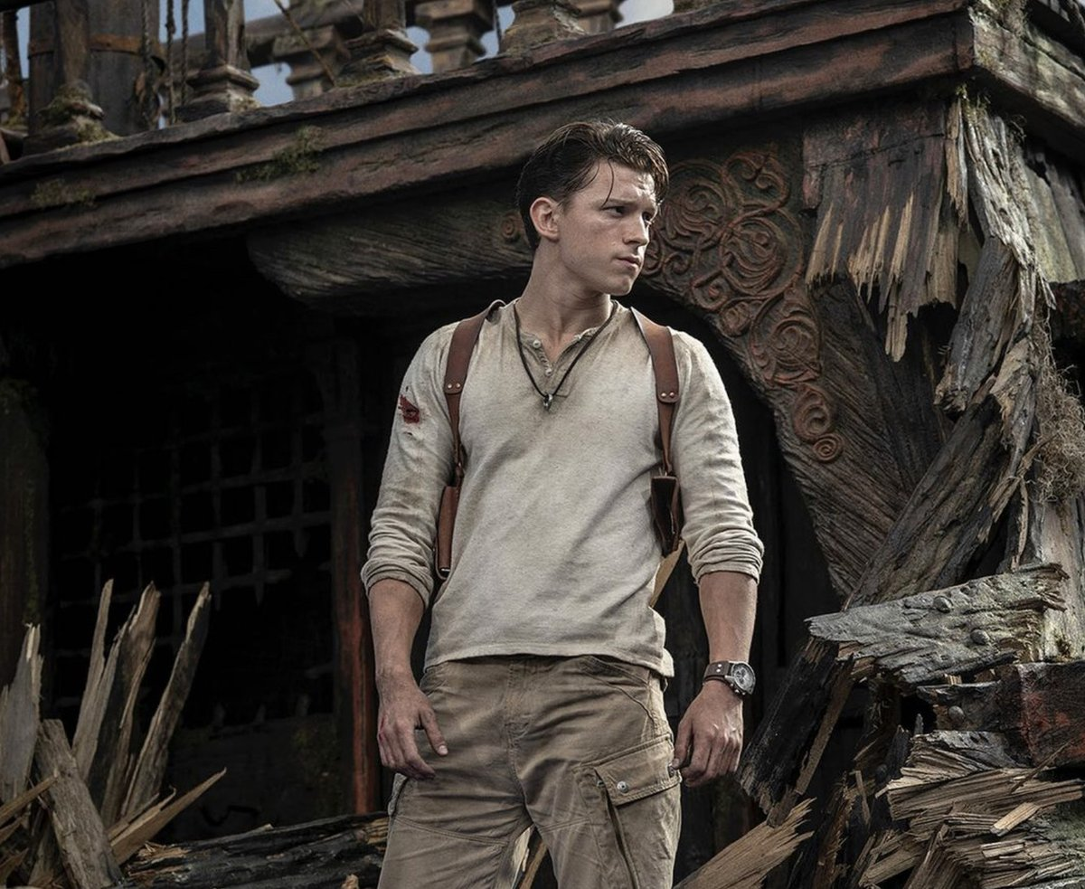 Tom Holland's Nathan Drake revealed in first photo from the long-in-development Uncharted movie