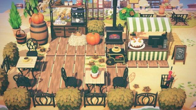 This cafe uses fresh pumpkin in their PSLs!  Image: u/hellomatchi on Reddit  #animalcrossing #animalcrossingnewhorizons #animalcrossingdesigns #animalcrossingnh #animalcrossinginspo #animalcrossingideas #acnh #acnhdesigns #acnhideas #acnhinspo #acnhhalloween #acnhpumpkins