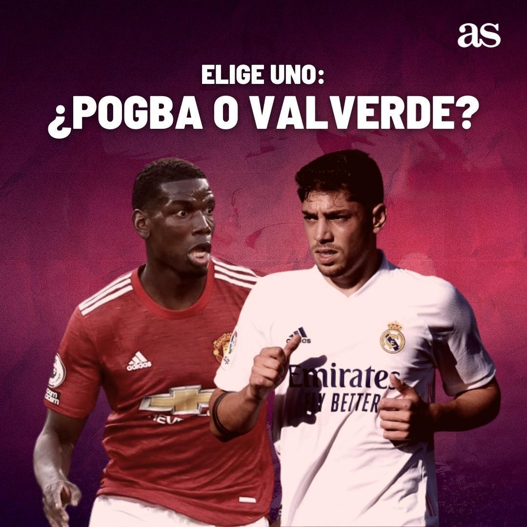 🤔 ¿Quién sería titular en tu Real Madrid? 🔃 Pogba. ❤️ Valverde. #EncuestAS