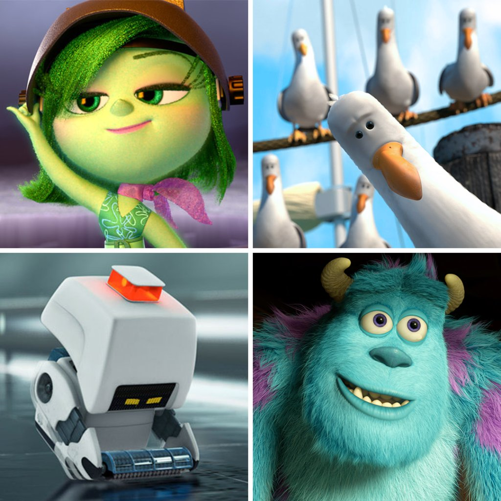 You must pick a new roommate from the below list. Who do you choose?  Use 🤢 for Disgust from Inside Out Use 🐦 for the Seagulls from Finding Nemo Use 🤖 for M-O from WALL•E Use 😱 for Sulley from Monsters University