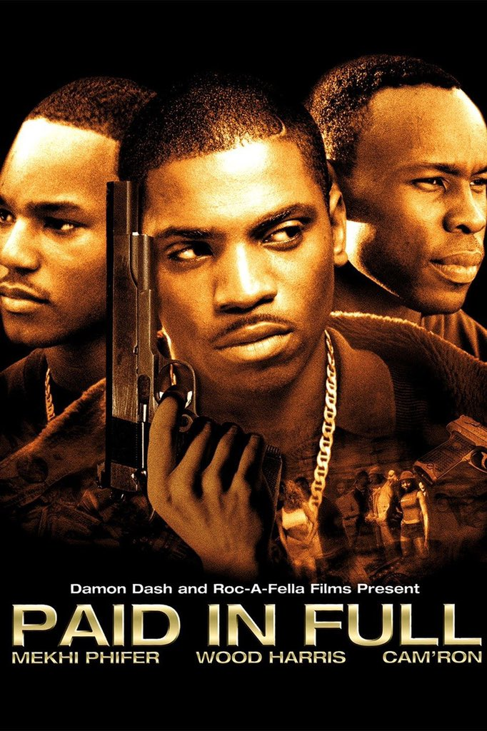 """18 years ago today, the film """"Paid In Full"""" starring #MekhiPhifer, #WoodHarris, and #Camron was released! What's your favorite scene from this classic movie? 👇🎥 @MekhiPhifer @WoodHarris @Mr_Camron"""