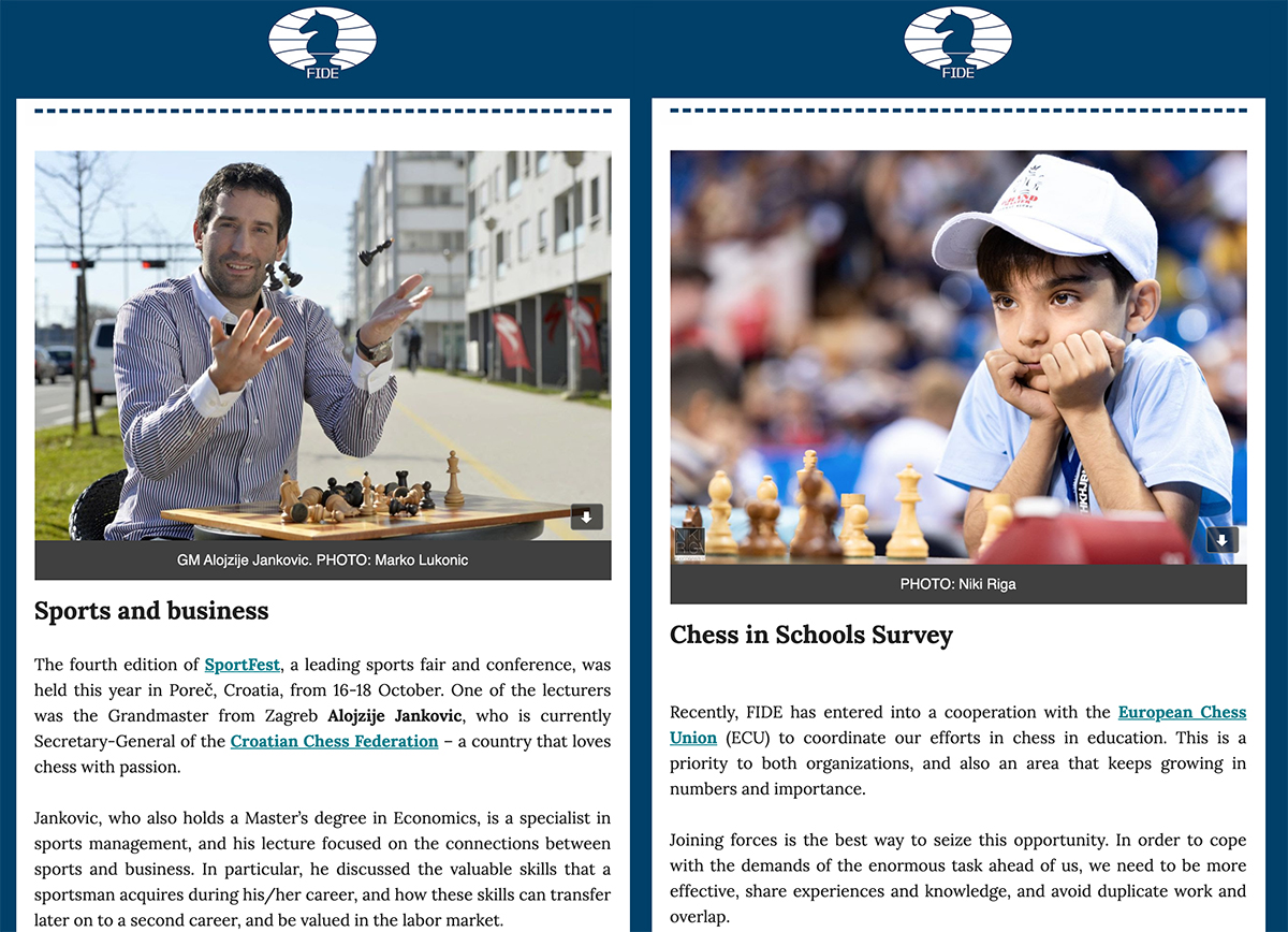 test Twitter Media - We are about to distribute the 17th issue of the FIDE newsletter. In case you haven't signed up yet, you can do it from the link below. Do it within the next few hours to make sure you don't miss it!  https://t.co/r66gLUpa4L https://t.co/HjY570OYy5