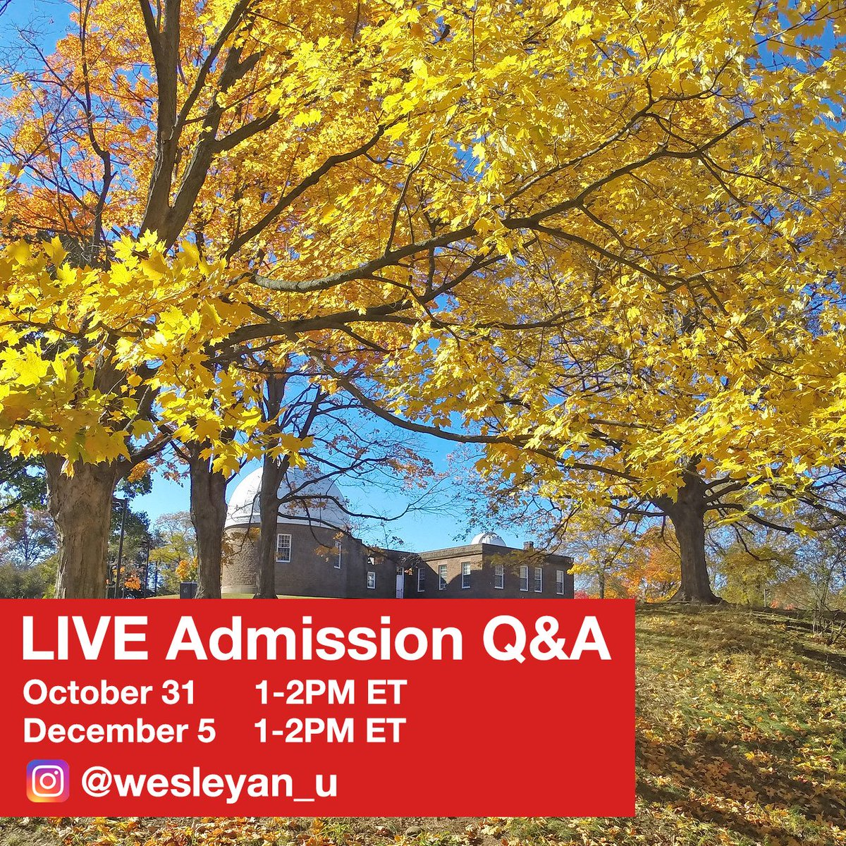 test Twitter Media - Mark your calendars and register today: https://t.co/cIcgoQ1nX1  Our students are eager to tell you more about Wes!   The Admission Office invites our prospective students and families to our social media lives on October 31 and December 5, 1-2PM ET. https://t.co/SXSNpUfUgz