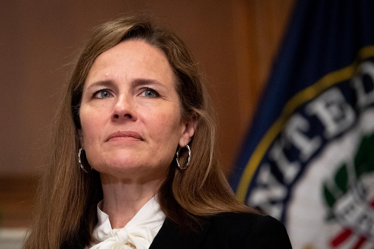 The Senate confirms Amy Coney Barrett to the US Supreme Court with a 52-48 vote, solidifying the court's conservative majority