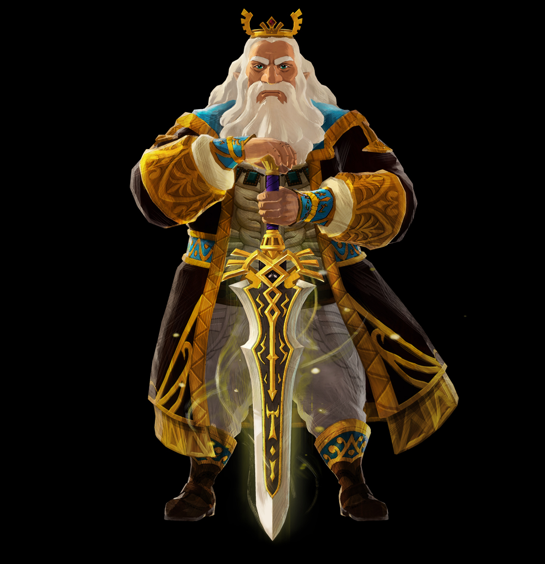 King Rhoam commands respect as the king of Hyrule, father to Zelda, and leader of the Hyrulean army. He is intent on stopping the Calamity and restoring peace to the world.   #HyruleWarriors #Zelda
