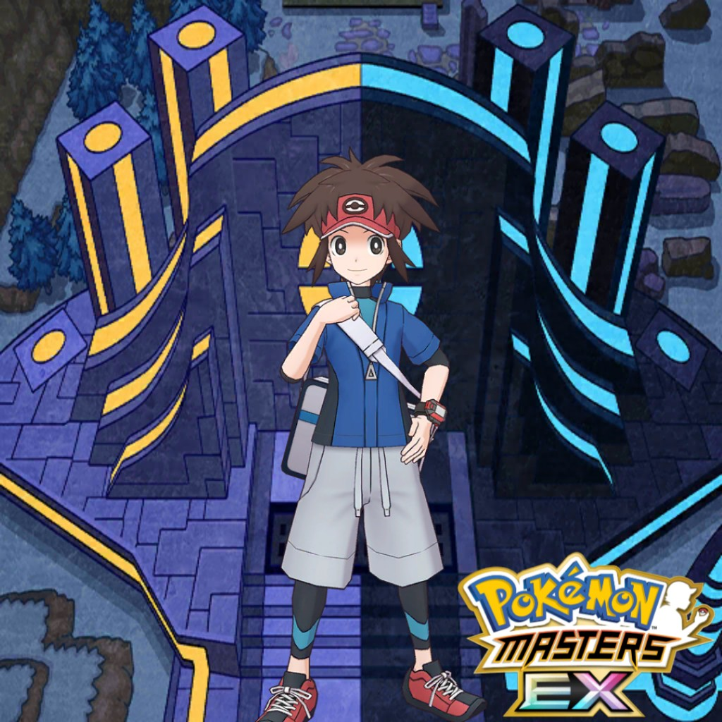 Nate ⭐⭐⭐⭐⭐  📅 Release Date: 12.11.2020 🕴️ Model 👉 Action Order  🖼️ Background 🌈 EX Outfit   #ポケマス #ポケマスEX #PokemonMasters #PokemonMastersEX #PMEXSpoiler