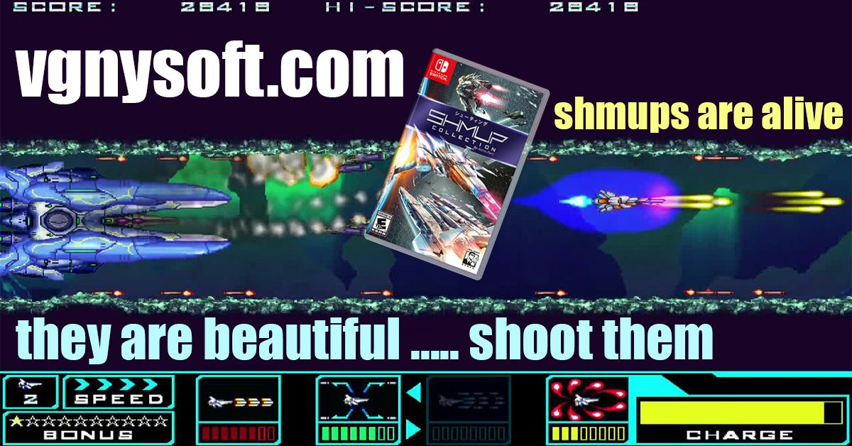 SHMUPS are alive, they are beautiful ....shoot them! 💥  Get your physical prints of the SHMUP Collection for Nintendo Switch! 3 beautiful games form the #AstroPort series on 1 cartridge.   Available 🚨NOW🚨 at 🛒   #VGNYsoft #SHMUP #SwitchCorps #Nindies