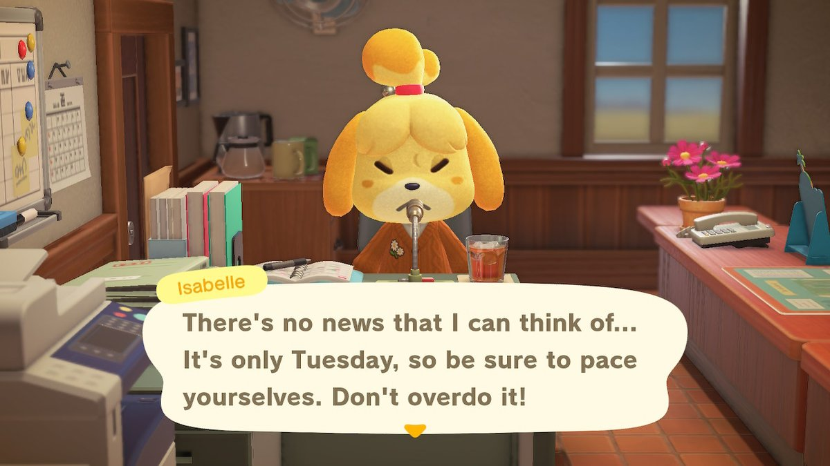A message from Isabelle #AnimalCrossing #ACNH
