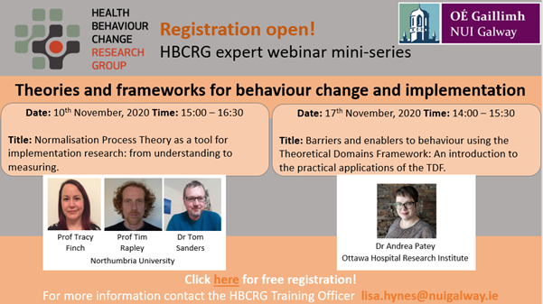 test Twitter Media - The Health Behaviour Change Research Group @hbcrg at NUI Galway is delighted to announce that registration is now open for a free mini-series of expert webinars. Register for one or both here https://t.co/a94IqcgkWj https://t.co/cn1aaZCVaa
