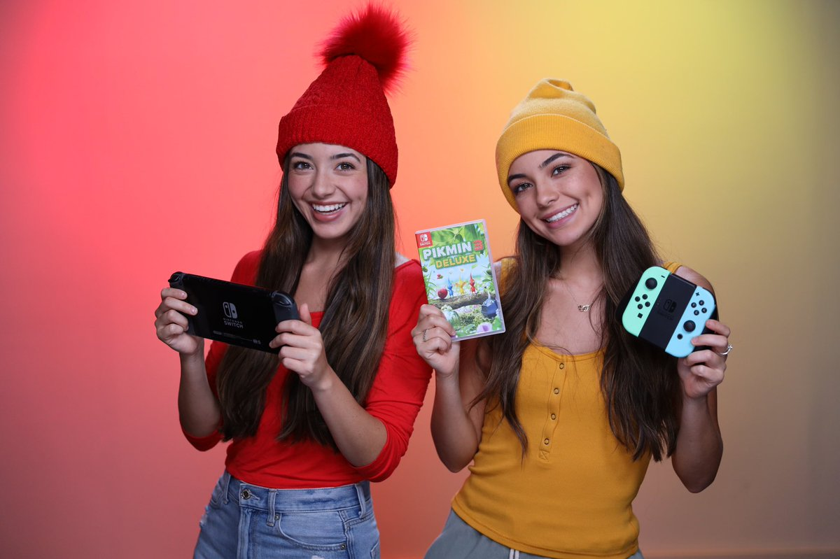 #ad Have you seen our new video? We're dressed up as the red & yellow #Pikmin3Deluxe @NintendoAmerica Switch game! Watch us survive on an unknown planet with the Pikmin! Pre-order it or download the free eShop demo now or get it on 10/30! #Nintendo #NintendoSwitch