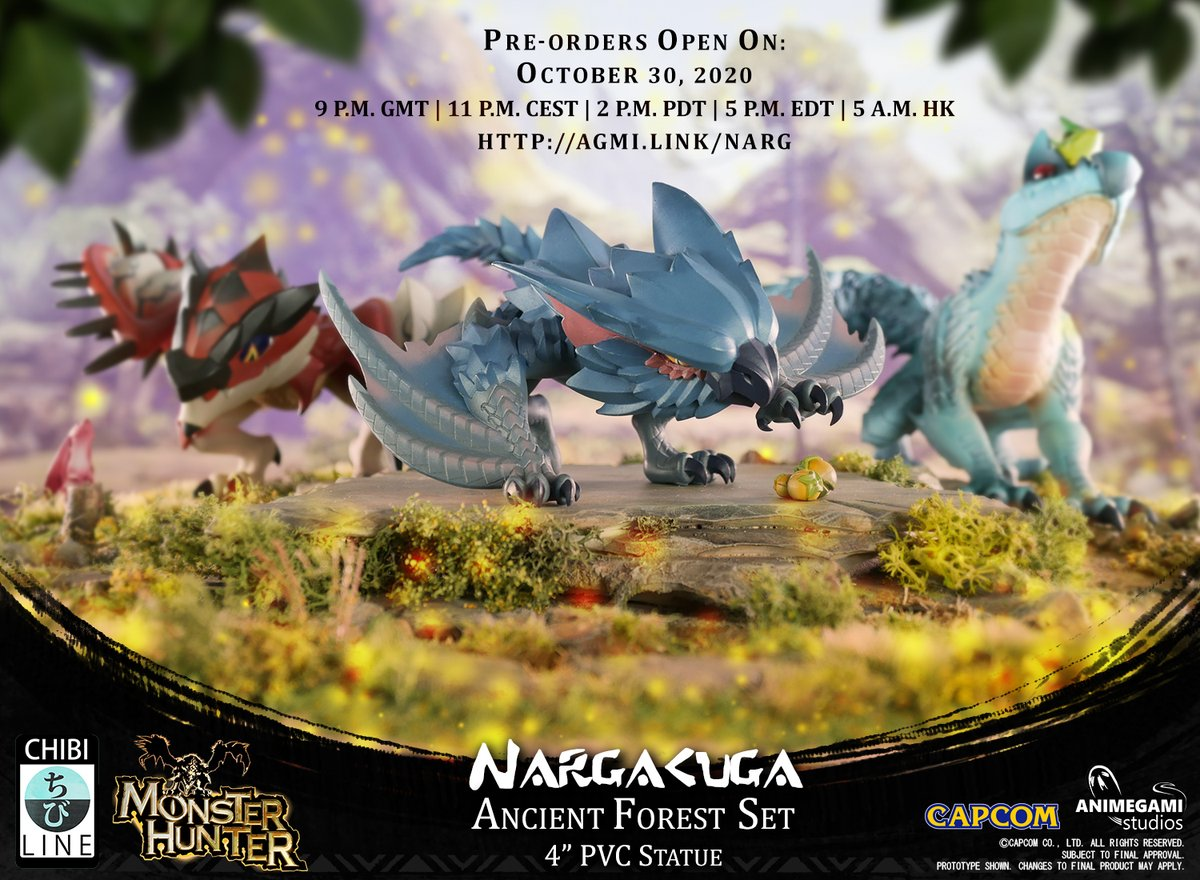 ❗️ #NARGACUGA PRE-ORDERS ARE OPENING  📅 Oct 30, 2020 @ 9PM GMT  ▶️   🔗   💵 $49.99 or $44.99 if you have ordered Tobi and Rathalos  Special thanks @Capcom_UK @CapcomUSA_ @monsterhunter   #monsterhunterworld #monsterhunter #capcom