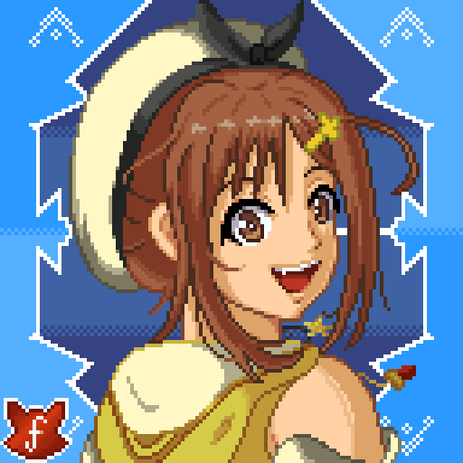 I made for myself this new profile picture of the cute #Ryza from the #Atelier series.  Want your own new pixel art PFP? Well, my commissions are open! Currently, 3 comm slots available!  You can check my prices & rules in my pinned tweet.  #AtelierRyza #JRPG #pixelart #fanart