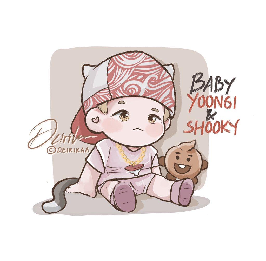 👶🏻🐱🤟🏻   #yoongi #baby #fanart