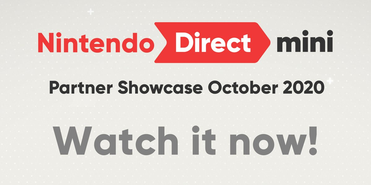 The last #NintendoDirectMini: Partner Showcase of the year is here! Watch now for the latest updates on upcoming #NintendoSwitch games from our development and publishing partners.  👉