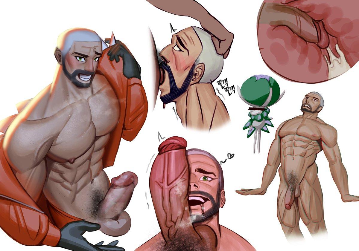 피오니 Peony ピオニー  #포켓몬 #Pokemon #19금 #nsfw #muscle #bara #r18