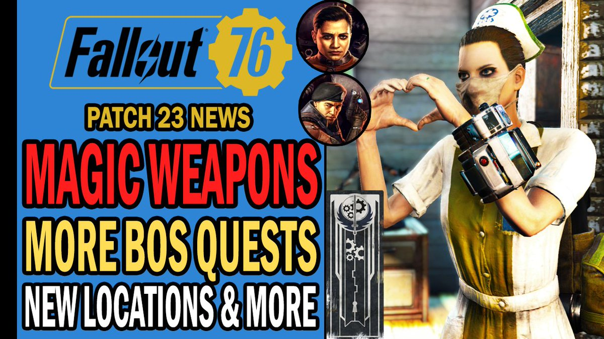 Magic weapons are back to #Fallout76? There are more BOS quests coming in 2021! New BOS items & locations have been found, as well as free new items for shelters. There's even a new realistic map mod. It's news time!   #Fallout #Gaming #GamingNews