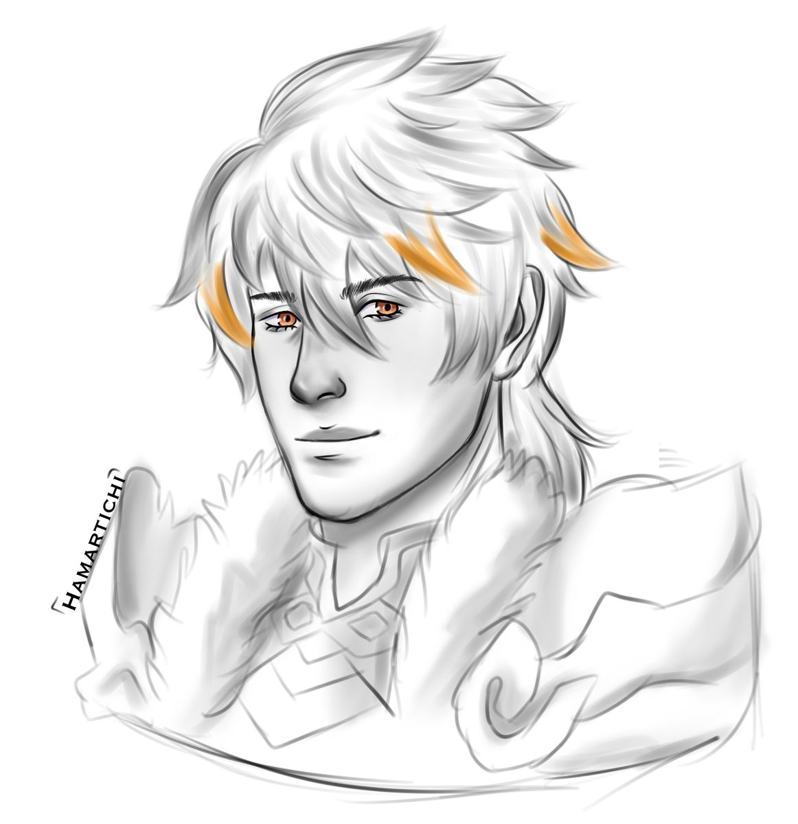 Quick doodle of Reinhard because I saw him and I love????  I am so hyped for #RuneFactory5 😫👏  #RF5 #sketch