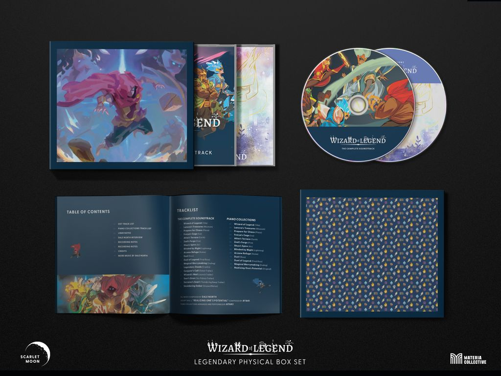 Don't miss the limited edition Wizard of Legend Complete #OST and Piano Collections box set:  #gamemusic #vgm #indiegame #roguelike #NintendoSwitch @DaleNorth @contingent99 @humble @MateriaColl