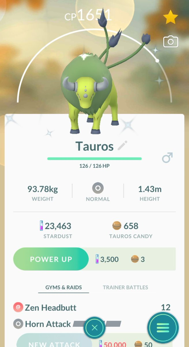 Welp. Y'all aren't gonna believe this, but 3RD shiny Tauros. 🟢✨ Oh my god. 😅😅 #pokemongo #pokemon #shinypokemon #tauros
