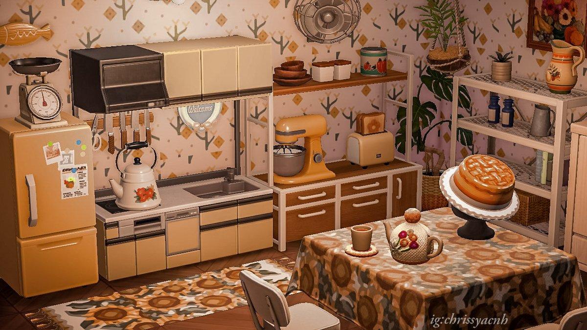 Grandma's kitchen~  🍪🎂  #AnimalCrossingNewHorizons #AnimalCrossing #AnimalCrossingDesigns #ACNH #ACNHDesigns #acnhinspo #acnhinteriors #ACNHcottagecore