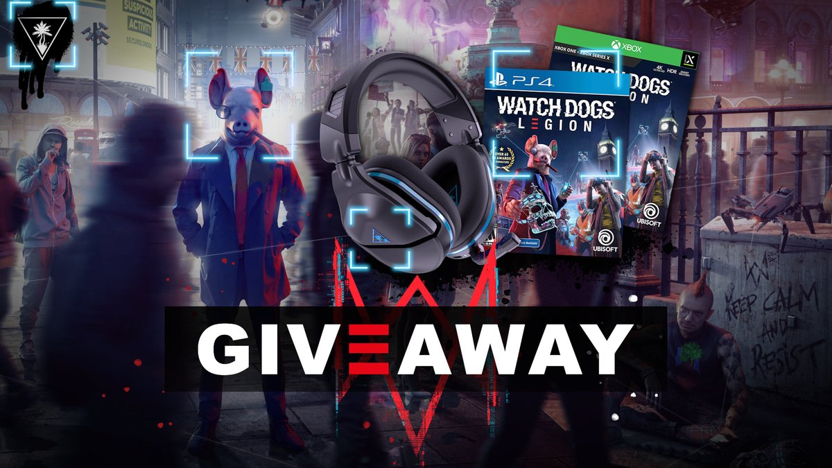 Our Watch Dogs: Legion flash⚡giveaway STARTS NOW!! Enter to win a digital copy of the game and a Stealth 600 Gen 2 for your console of choice!  👑 Follow @TurtleBeach 📱 RT + Like 🐷 Tag a friend  Ends tomorrow - don't miss it!