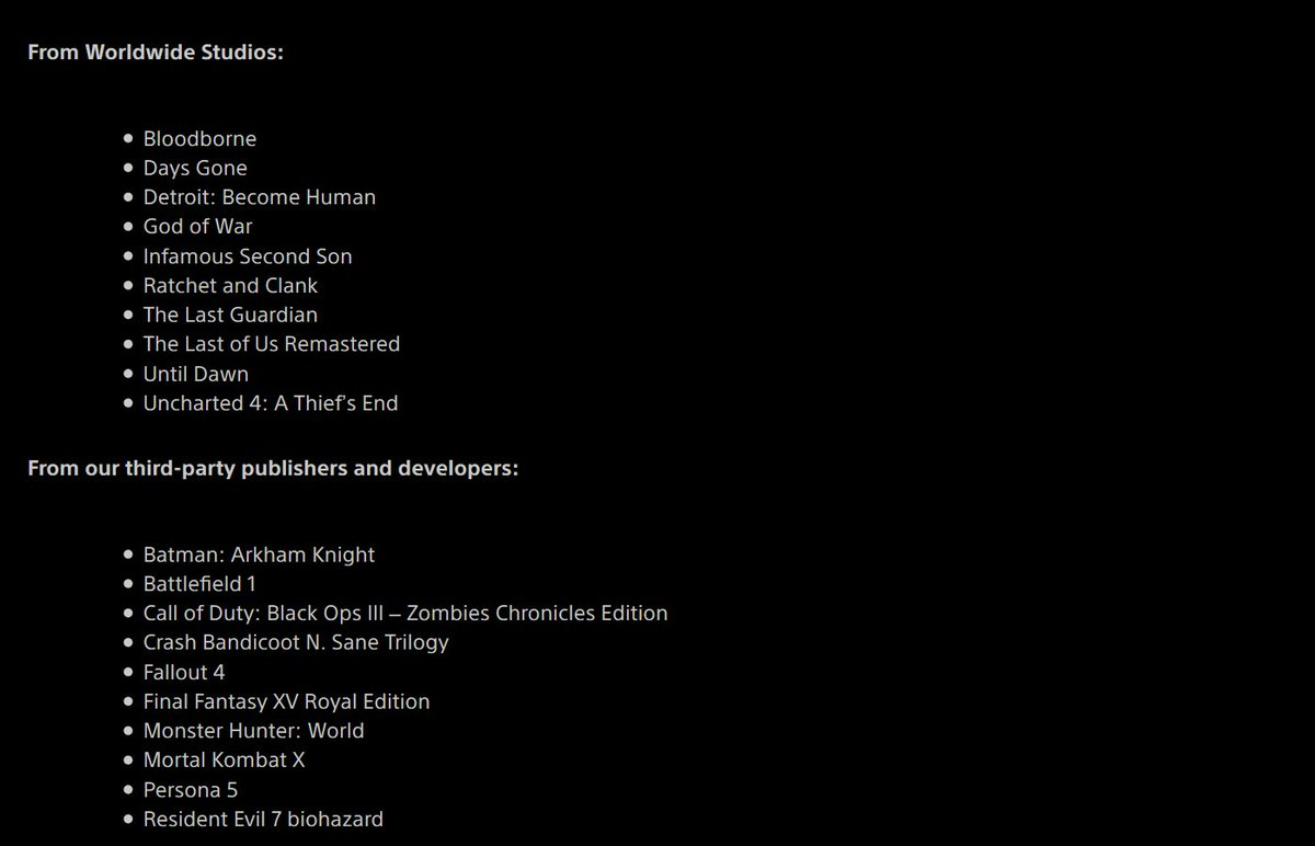 The free PS Plus games (pic from Shinobi) look amazing. The list is great. They even added Crash Trilogy and almost all the dlc for XV! And there are 1year ps plus deals for $30-40 frequently! This list is fantastic!  PLAY THESE GAMES! #PlayStation5