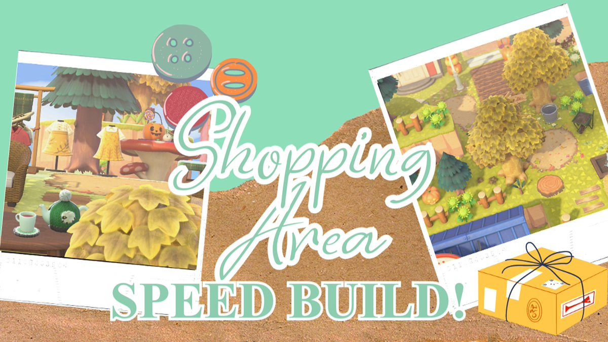 shopping area speed build! 🛍️ | animal crossing new horizons      #acnh #animalcrossing #acnhspeedbuild