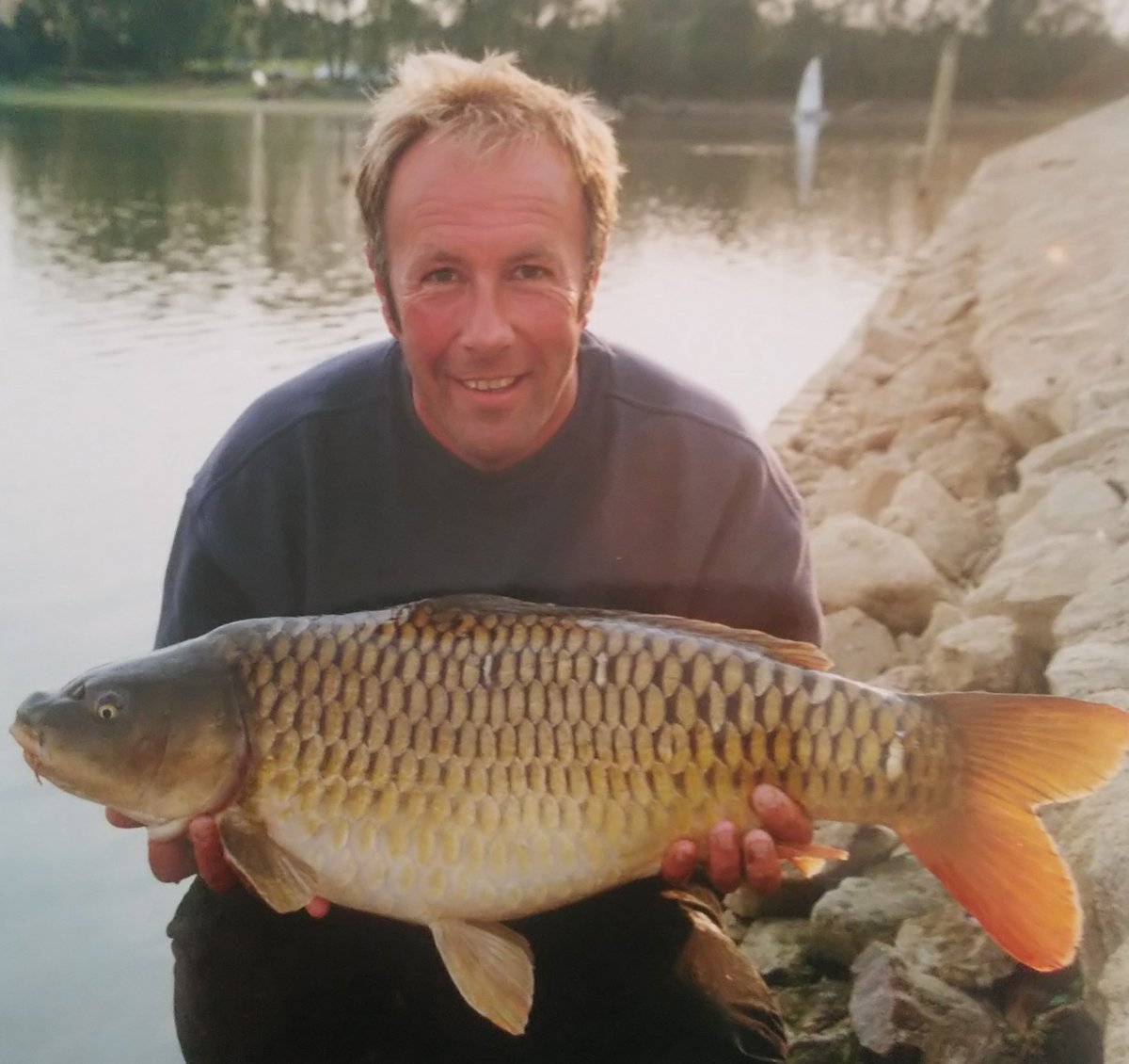 A younger me, and a common carp caught from Naseby <b>Reservoir</b>  #stillwater #carpfishing #Throw