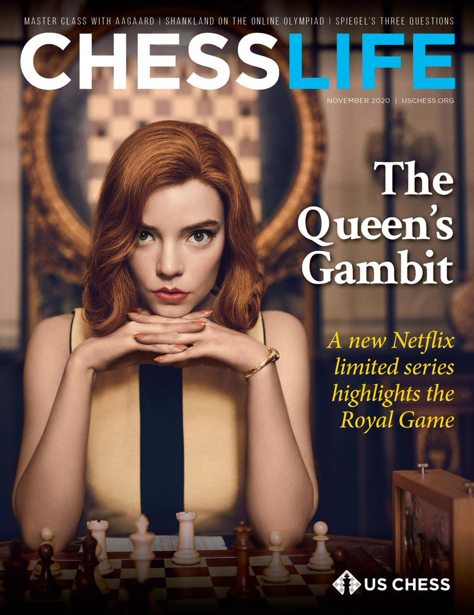 test Twitter Media - RT @NetflixTheQG: Beth Harmon makes the cover of the esteemed @USChess Chess Life. #TheQueensGambit  #ChessLife https://t.co/8Y8ZG1ZMTU