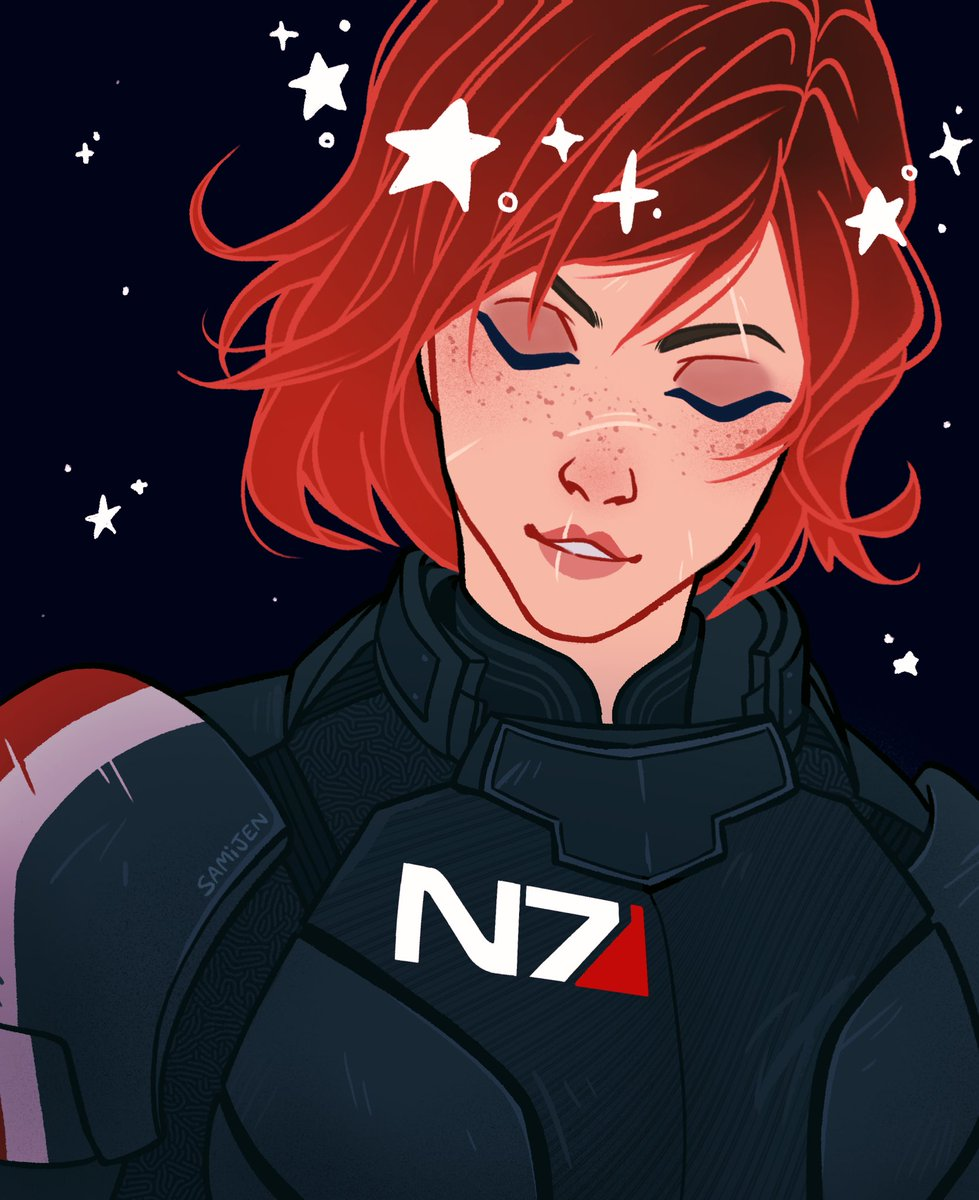 Finished this in time for #N7Day !!! Regular colors + a color variant ⭐️  _______________ #MassEffect