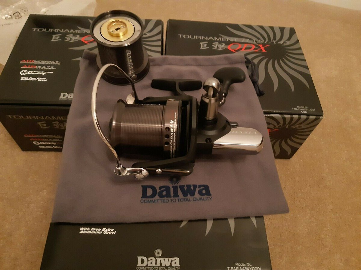 Ad - 3x brand new Daiwa Basia 45 QDX reels with spare spools On eBay here -->> https://t.co/Fb