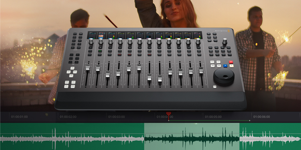 RT @Blackmagic_News: New Fairlight Desktop Console! A portable audio control surface that includes 12 touch sensitive flying faders, channe…