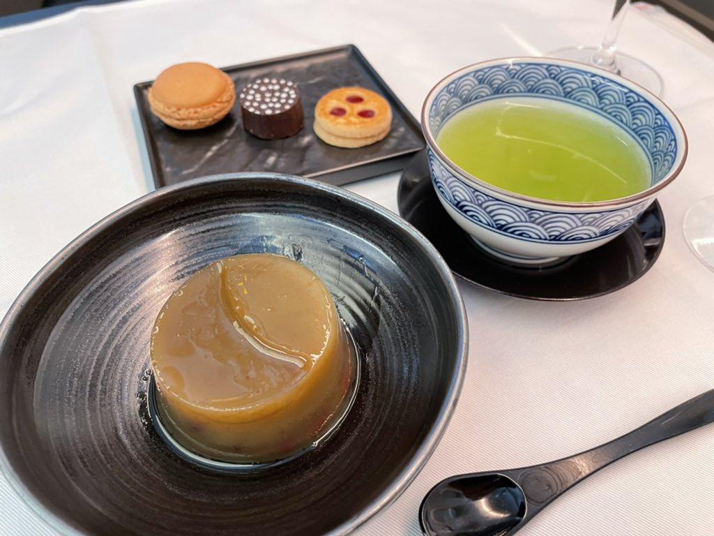 test ツイッターメディア - お食事もお酒も大満足。日本酒が好きなので而今、農口、七賢。焼酎は村尾。その他は紅茶やコーヒーなどでしたが大満足でした。ただ最後に「宮様に近い方ですか?」と言われたのは面白かったです🙄普通こんなペーペー乗らないですよね笑 https://t.co/E8H8QUWKaN
