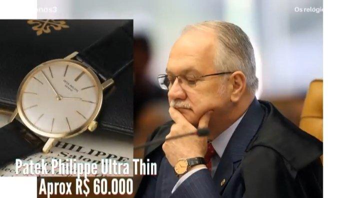 Bora analisar os relógios dos ministros do STF!  Começando por quem tirou dez na prova de elegância, Fachin com seu PP ultra thin. A definição de um relógio social.  Já é campeão na largada do fio.