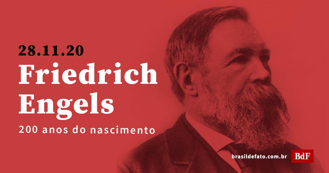 Há 200 anos nascia o filósofo e revolucionário comunista Friedrich Engels, coautor de obras como A ideologia alemã e Manifesto Comunista, junto com Karl Marx, no século XIX.