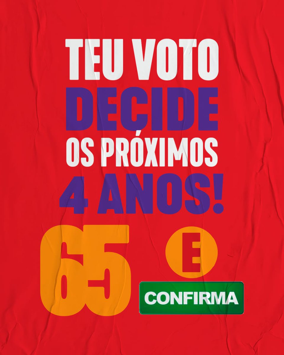 Não deixe de votar. Põe teu voto na mão e participa da mudança em Porto Alegre 👊 #vira65